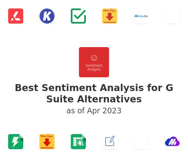 Best Sentiment Analysis for G Suite Alternatives