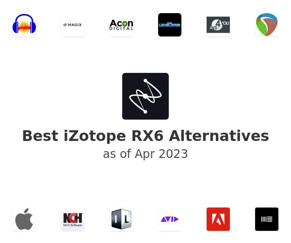 Best iZotope RX6 Alternatives