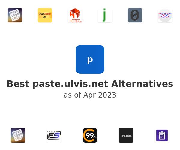 Best paste.ulvis.net Alternatives
