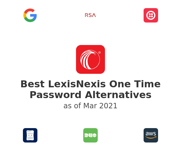 Best LexisNexis One Time Password Alternatives