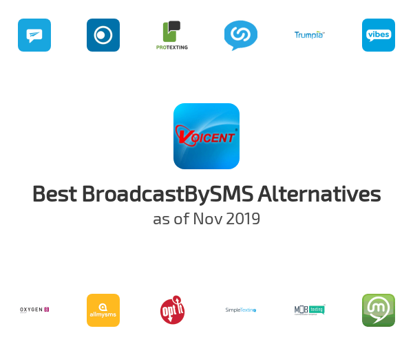 Best BroadcastBySMS Alternatives