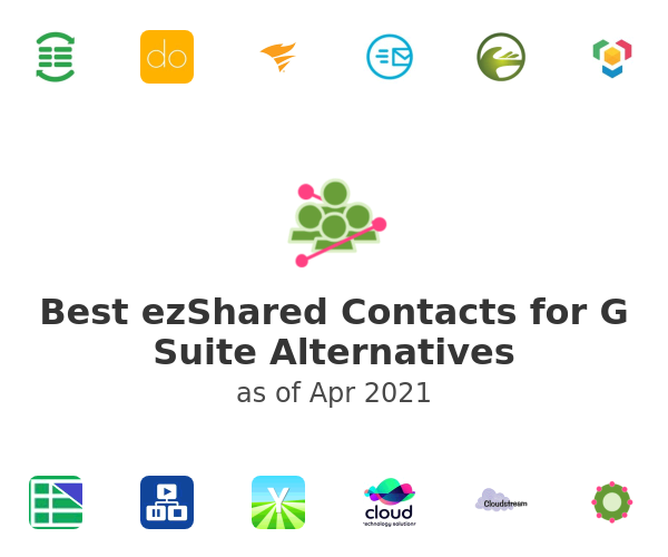 Best ezShared Contacts for G Suite Alternatives