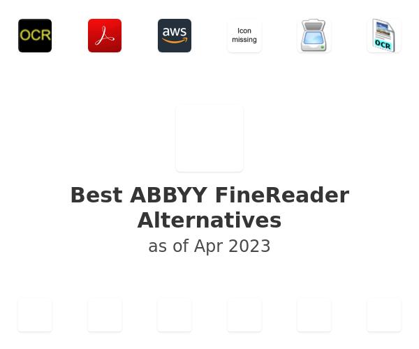 Best ABBYY FineReader 14 Alternatives