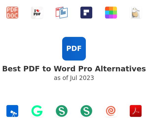 Best PDF to Word Pro Alternatives