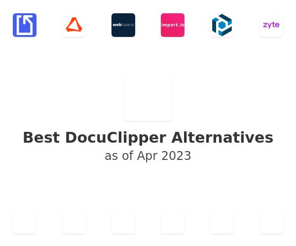 Best DocuClipper Alternatives