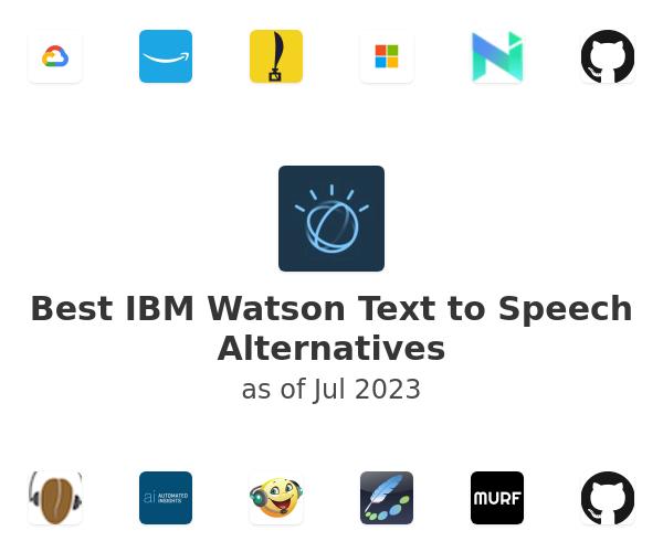 Best IBM Watson Text to Speech Alternatives