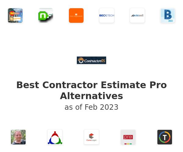 Best Contractor Estimate Pro Alternatives