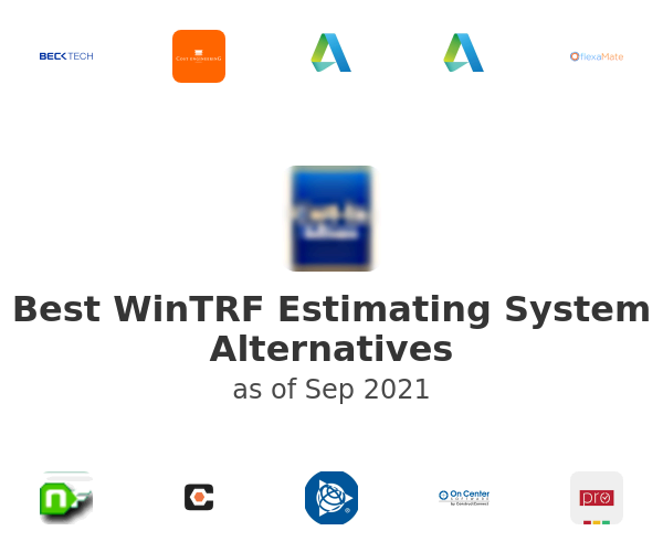 Best WinTRF Estimating System Alternatives