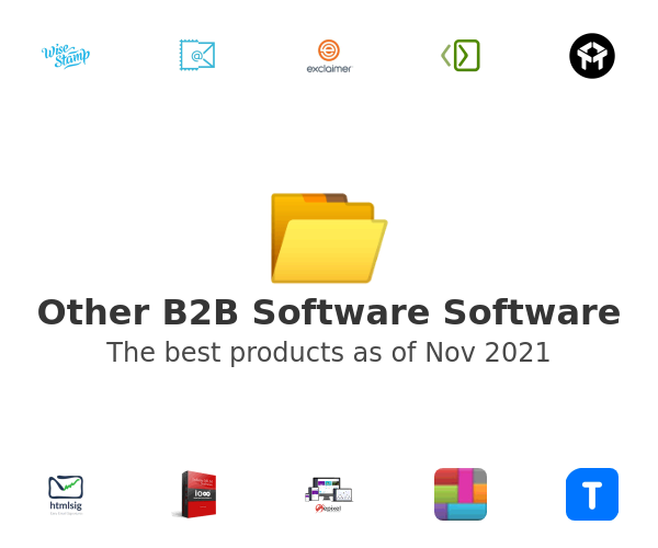 Other B2B Software Software