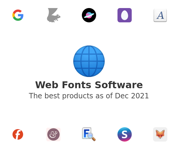 Web Fonts Software