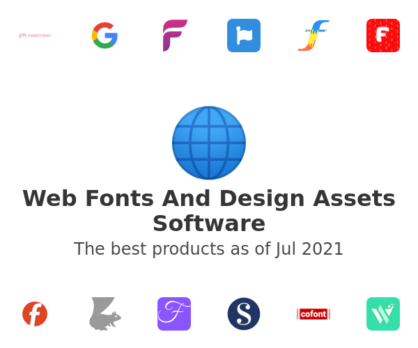 Web Fonts And Design Assets Software