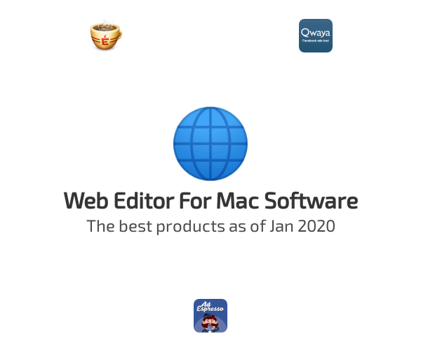 Web Editor For Mac Software