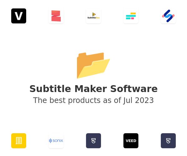 Subtitle Maker Software