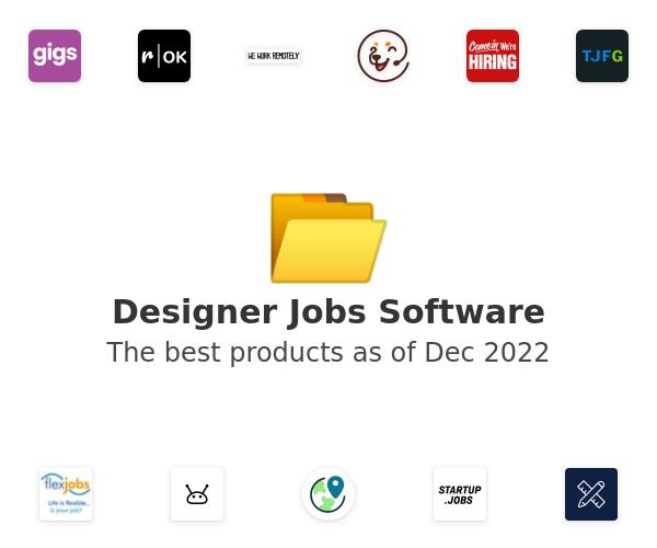 Designer Jobs Software