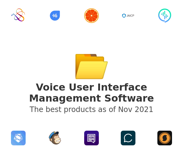 Voice User Interface Management Software