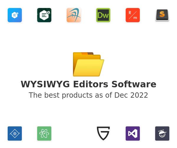 WYSIWYG Editors Software