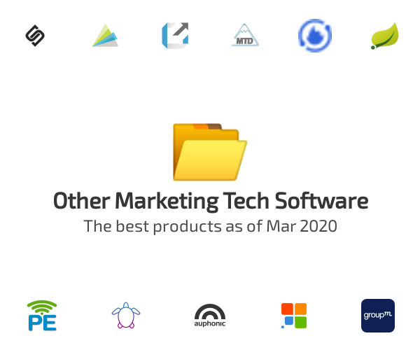 Other Marketing Tech Software