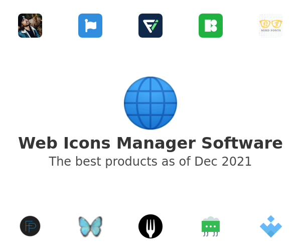 Web Icons Manager Software