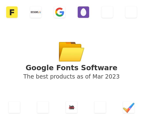 Google Fonts Software