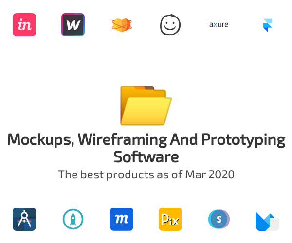 Mockups, Wireframing And Prototyping Software