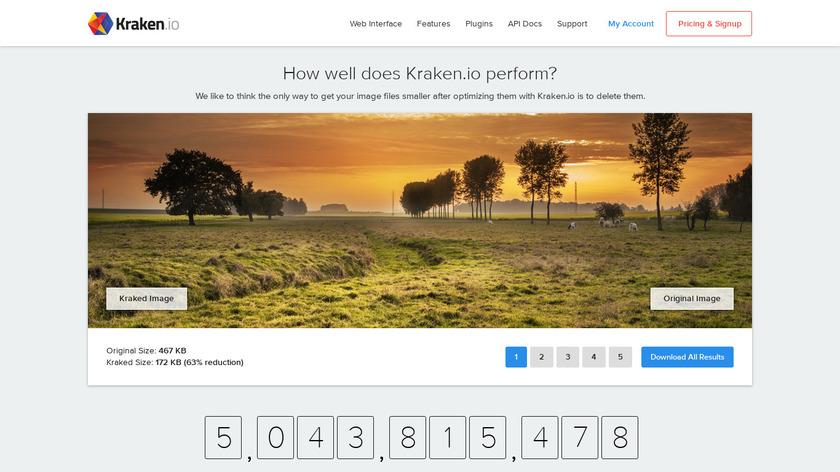 Kraken.io Landing Page