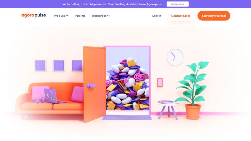 AgoraPulse Landing Page