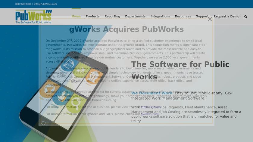 PubWorks Landing Page