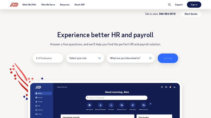 ADP Landing Page