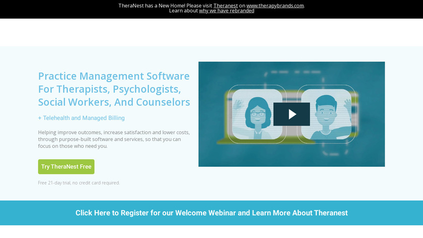 TheraNest Landing Page