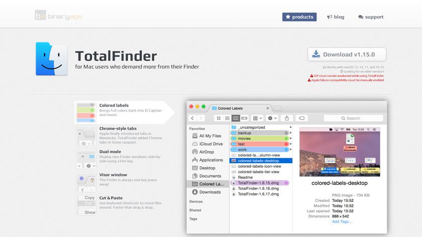 TotalFinder Landing Page