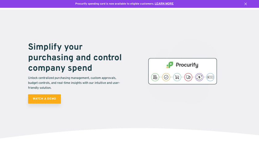 Procurify Landing Page