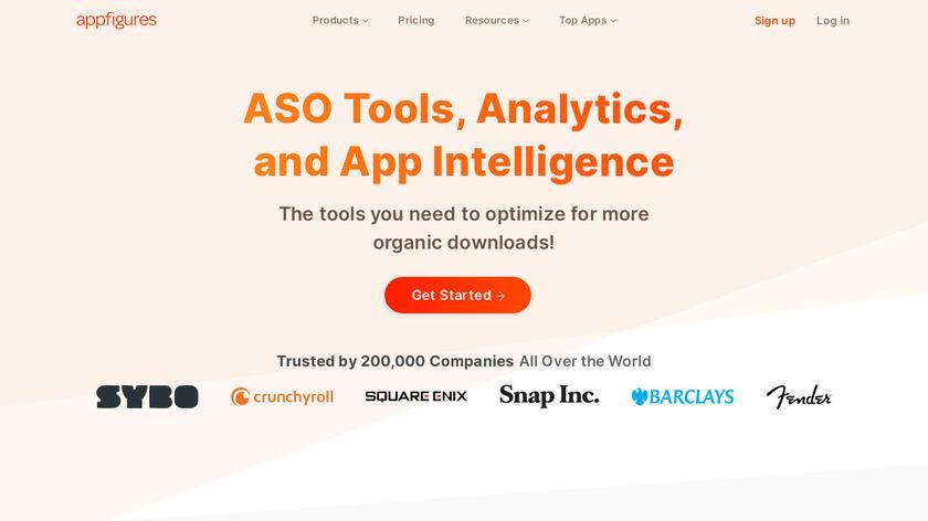 appfigures Landing Page