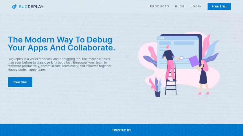 BugReplay Landing Page