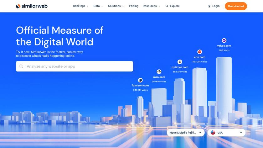 SimilarWeb Landing Page