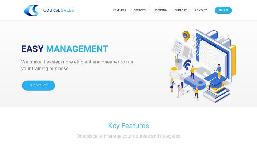 Coursesales.com Landing Page