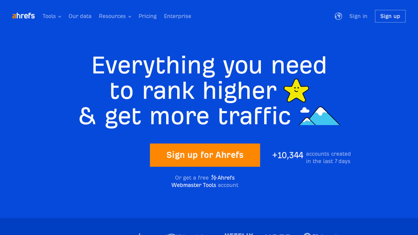Ahrefs Landing Page