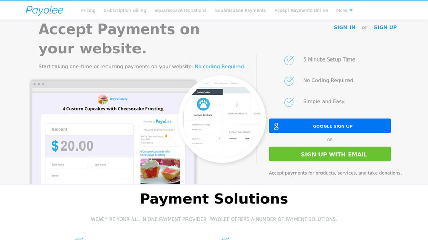 Payolee Landing Page