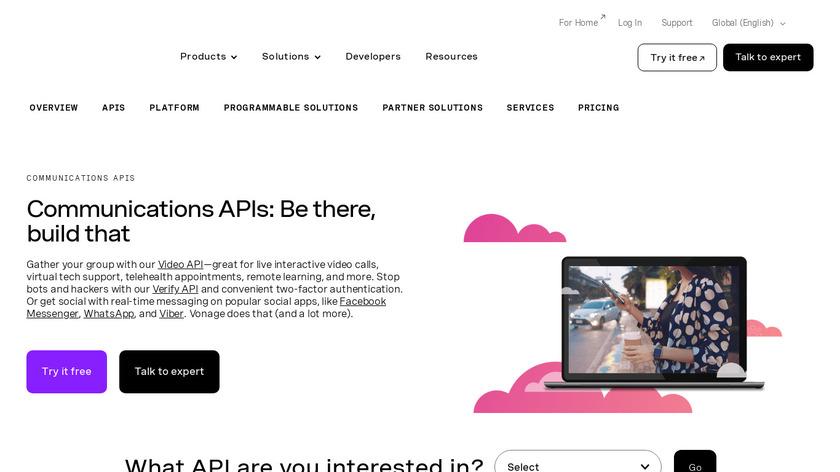 Nexmo Landing Page
