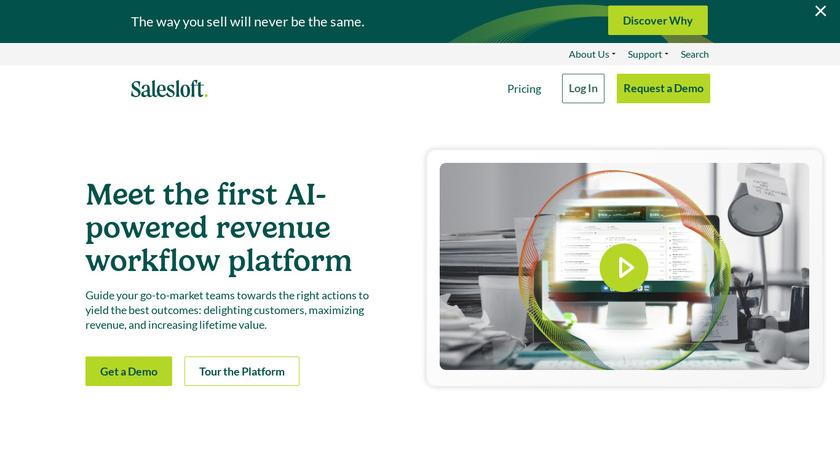 SalesLoft Landing Page