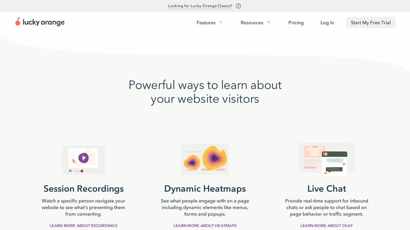 Lucky Orange Landing Page