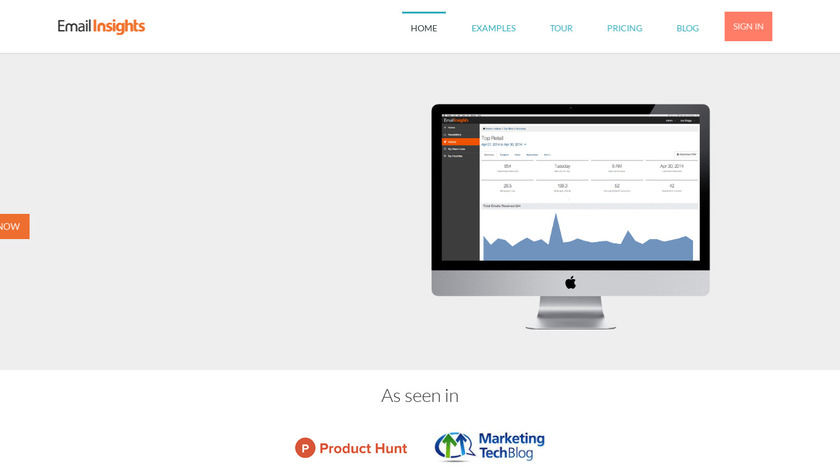 Email Insights Landing Page