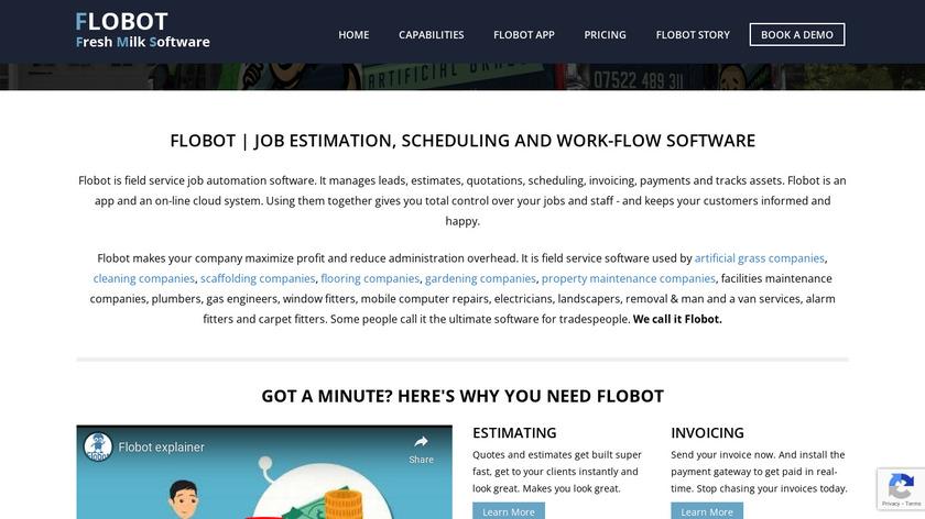 Flobot Landing Page