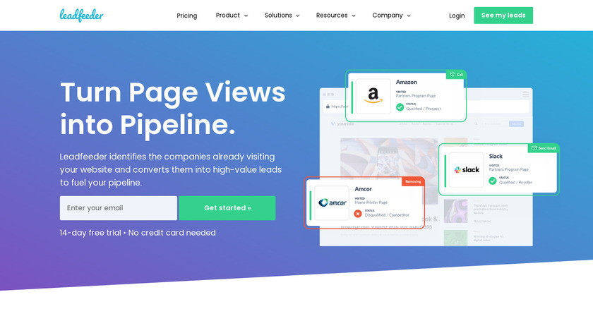 Leadfeeder Landing Page