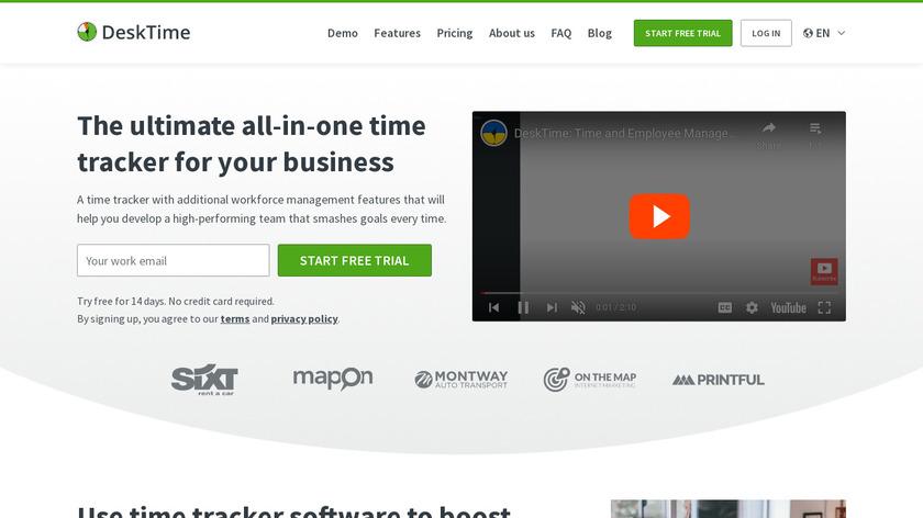 DeskTime Landing Page