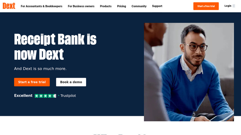 Receipt Bank Landing Page