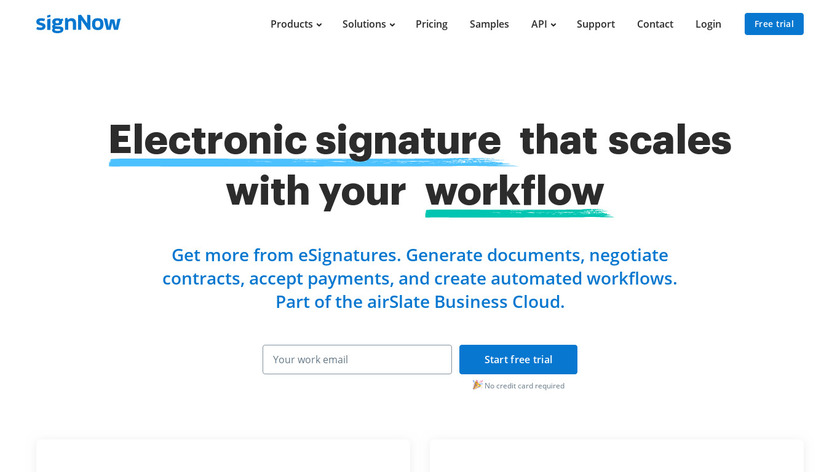 SignNow Landing Page