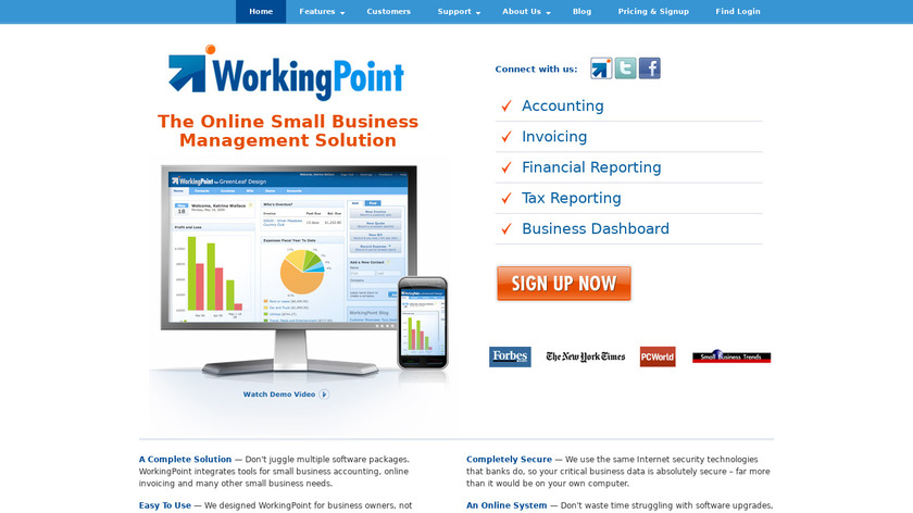 WorkingPoint Landing Page