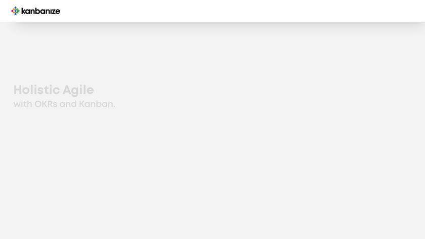 Kanbanize Landing Page