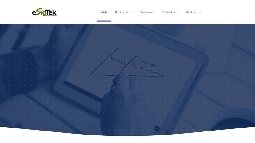 eSigTek Landing Page