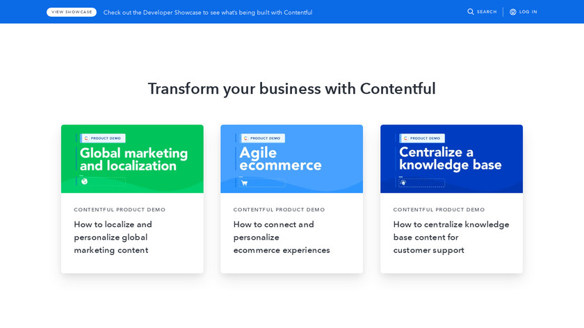 Contentful Landing Page